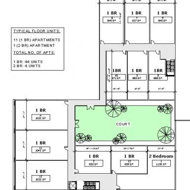 1920 Chestnut  Street Apartment Plan